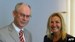 TÜSİAD Başkanı Ümit Boyner,Avrupa Birliği Başkanı Herman Van Rompuy ile
