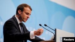 Еммануель Макрон на кліматичній конференції ООН у Бонні 15 листопада 2017р.