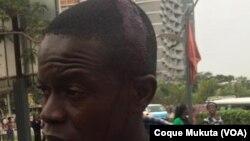 Activista agredido, Praça 1o. de Maio, Luanda