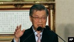 已辞职的台湾行政院长陈冲(资料照片)