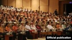 ဒုတိယအႀကိမ္ ျပည္ေထာင္စုလႊတ္ေတာ္ လႊတ္ေတာ္ ကိုယ္စားလွယ္မ်ား အတြက္ လႊတ္ေတာ္ဆိုင္ရာလုပ္ငန္းမ်ား ရွင္းလင္းတင္ျပျခင္း Induction Programme for MPs of the Second Hluttaw အစီအစဥ္။ သတင္းဓာတ္ပံု-NLD Chairperson။
