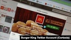 Tài khoản Twitter của Burger King đã bị các tin tặc tấn công, đăng lên một tin nhắn có nội dung chuỗi cửa hàng Burger King đã bị bán cho đối thủ là McDonalds vì sản phẩm Whopper của Burger King đã thất bại.