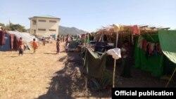 ရခိုင္ျပည္နယ္ရွိ ရခိုင္စစ္ေဘးေရွာင္ ဒုကၡသည္မ်ားေနထိုင္ရာ စစ္ေရွာင္စခန္းတခု ျမင္ကြင္း။ (ဓာတ္ပံု - Rakhine Ethnics Congress - ဇန္န၀ါရီ ၁၂၊ ၂၀၁၉)