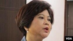 国民党立委 江惠贞( 美国之音 张永泰拍摄)