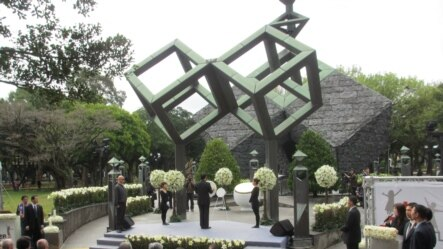 台湾政府举行228事件中枢纪念仪式(美国之音张永泰拍摄)