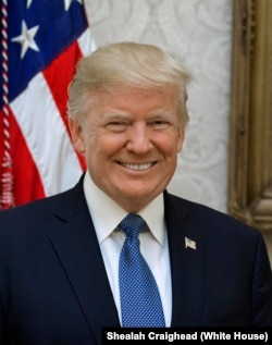 Donald Trump is the 45th U.S. president.