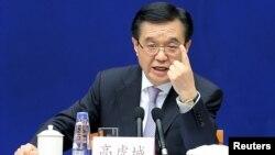 가오후청 중국 상무부장 (자료사진)