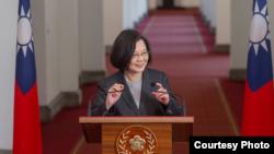 台灣總統蔡英文(台灣總統府提供)