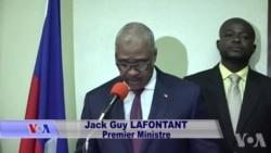 Premye minis ayisyen an, Jack Guy Lafontant, pwomèt pou l konbat koripsyon nan leta a.