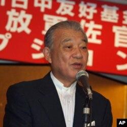 日本财团会长世川阳平在欢迎酒会上致词
