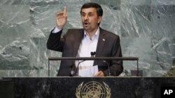 伊朗總統哈邁迪內賈德星期四在聯合國發表演講