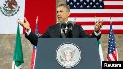 El presidente Obama ofrece un discurso en el Museo Nacional de Antropología en México donde no faltaron frases en español.