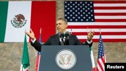 Presidente Barack Obama na cidade do México