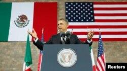 Predsednik Barak Obama tokom govora u Muzeju antropologije u Meksiko Sitiju, 3. maj 2013.