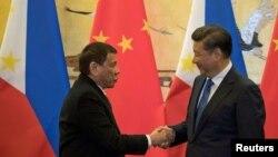 杜特爾特上任後不久就在2016年10月訪問北京(路透社)