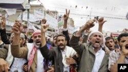 계속되는 예멘의 반정부 시위