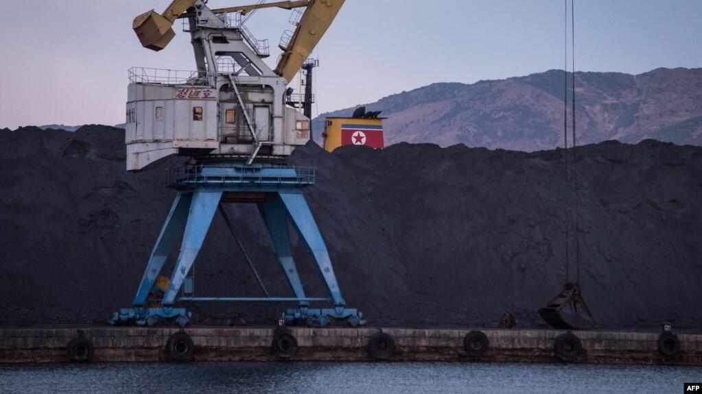 지난해 11월 북한 라선항에 선적을 앞둔 석탄이 쌓여있다. (자료사진)