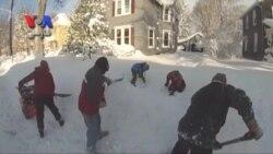 بوفالو در غرب ایالت نیویورک زیر خروارها برف مدفون شد