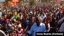 Afonso Dhlakama em campanha eleitoral