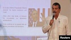 El vicecanciller cubano, Abelardo Moreno, dio una rueda de prensa en La Habana.