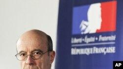ທ່ານ Alain Juppe ລັດຖະມົນຕີການຕ່າງປະເທດຝຣັ່ງ ວັນທີ 12 ເມສາ 2011