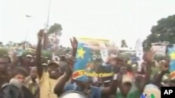 Wasu magoya bayan wani dan takara a Janhuriyar Dimokaradiyyar Kongo