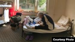 2017年8月,薛蔭嫻在德國海德堡難民營。 (受訪者提供)
