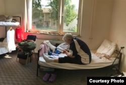 2017年8月,薛荫娴在德国海德堡难民营。 (受访者提供)