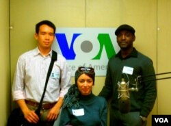 Some of our very first bloggers visiting VOA