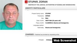 Interpol raspisao potjernicu za Zoranom Stuparom