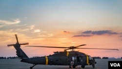 FILE - US soldiers land at Kunsan Air Base, Republic of Korea, as part of a joint emergency medical evacuation training, July 26, 2021. (US Air Force photo)