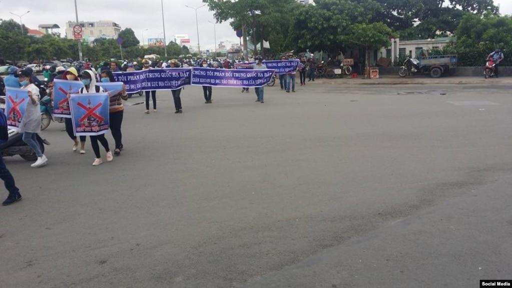 Biểu tình ngày 25/6/2017 tại quận Bình Thạnh, Tp. Hồ Chí Minh (Facebook Nguyen Thanh Hung)