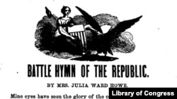 """Battle Hymn of the Republic"" by Mrs. Julia Ward Howe"