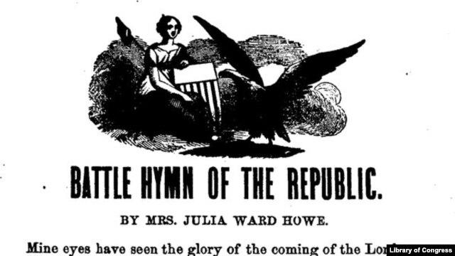 """""""Battle Hymn of the Republic"""" by Mrs. Julia Ward Howe"""