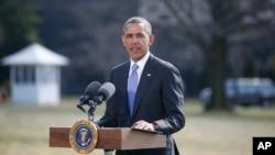 美國總統奧巴馬3月20日在白宮就烏克蘭問題,宣布對俄羅斯進行第二波制裁措施。
