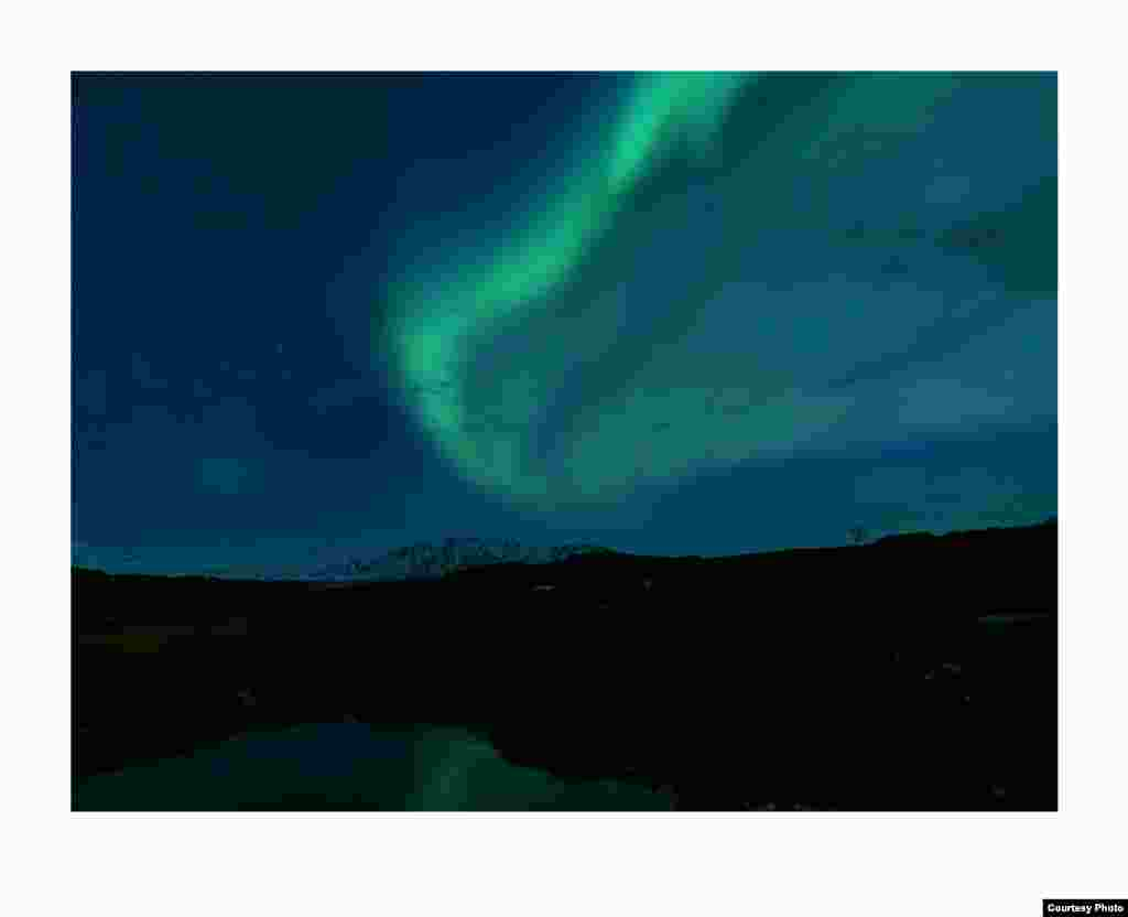 Northern lights above the Mt. Hekla volcano in Southern Iceland. (Feo Pitcairn Fine Art)