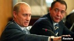 Михаил Лесин и Владимир Путин