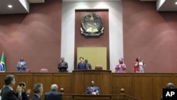 Assembleia Nacional de Angola recebendo a presidente Dilma Rousseff, do Brasil (foto de arquivo)