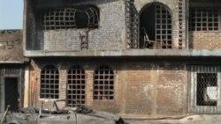 نمایی از خانه ها و یک خودرو که در پی انفجار خط لوله نفت در ایالت پوبلا در مکزیک ویران شدند- ۱۹ دسامبر ۲۰۱۰