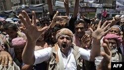 Демонстрации протеста в столице Йемена Сане 12 мая 2011г.