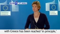 VOA60 World- Belgium: EU Commission says a bailout deal with Greece has been reached 'in principle'- August 11, 2015
