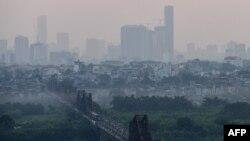 Hình ảnh bầu trời Hà Nội hôm 27/9.