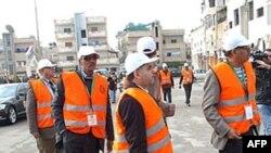Các quan sát viên thuộc Liên đoàn Ả Rập trong thành phố Daraa, Syria