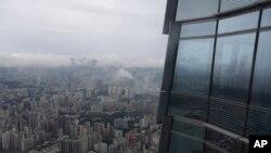 Một góc khách sạn Ritz-Carlton ở Hong Kong.