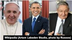 Papa Francisco, Barack Obama, Raul Castro