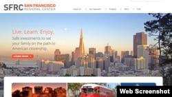 """""""旧金山地区中心""""(SFRC)的网页。"""