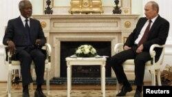 Кофи Аннан и Владимир Путин. Москва, Кремль. 17 июля 2012 г.
