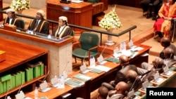 FILE - Zambian Parliament in Lusaka.