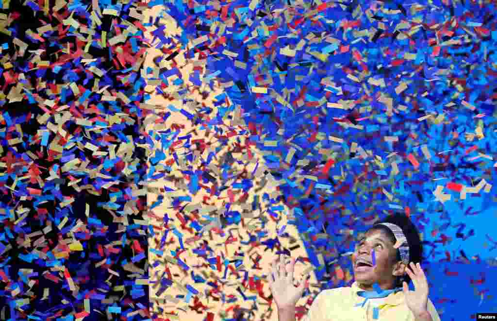 Zaila Avant-garde, 14, from New Orleans, Louisiana, wins the 2021 Scripps National Spelling Bee Finals at the ESPN Wide World of Sports Complex at Walt Disney World Resort in Lake Buena Vista, Florida, July 8, 2021.