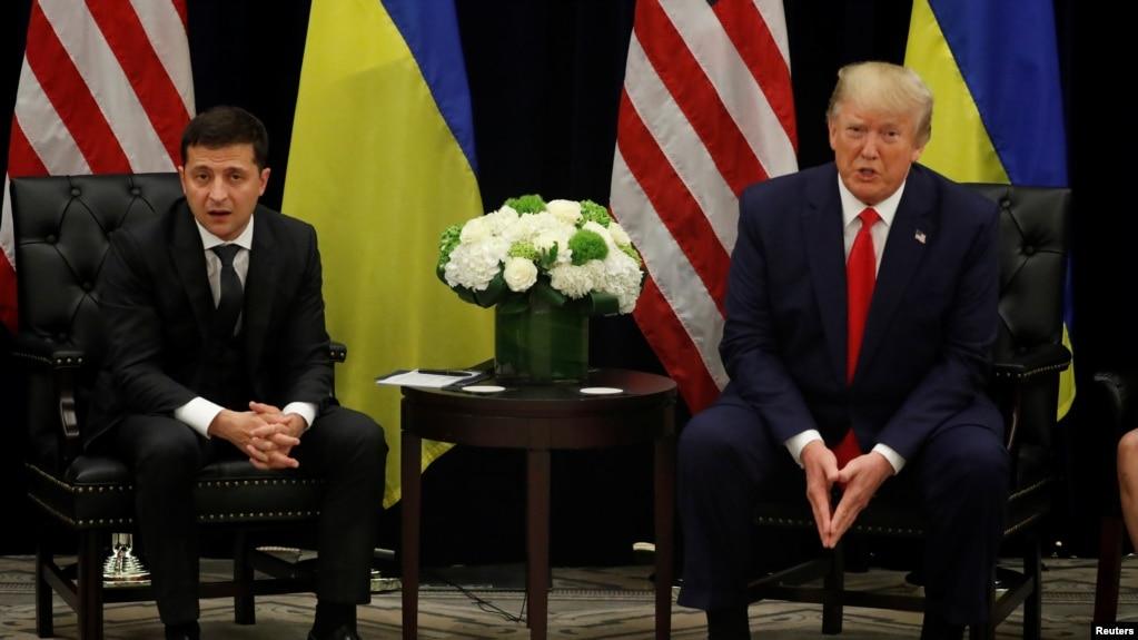 Дональд Трамп и Владимир Зеленский. 25 сентября 2019 года. Нью-Йорк.